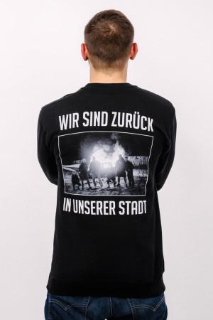 Crewneck Zurück in unserer Stadt Schwarz