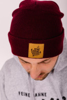 Beanie Anker Patch Burgundy
