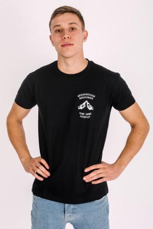 T-Shirt Niemand muss nüchtern sein Schwarz