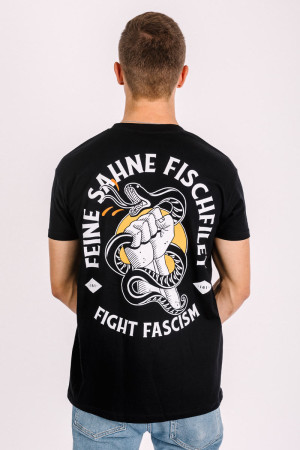 T-Shirt Fight Fascism Schwarz