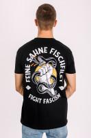T-Shirt Fight Fascism Schwarz