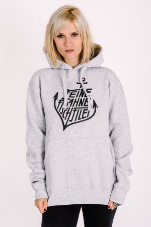 Hoodie Anchor Grey