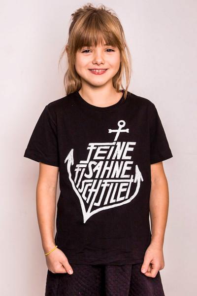Kinder T-Shirt Anker Schwarz