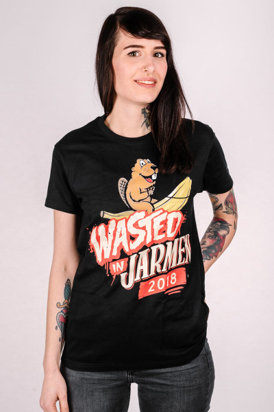 T-Shirt Wasted in Jarmen 2018 Schwarz Fitted