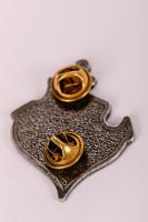 Metallpin Anker Silberfarben