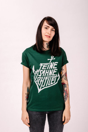 T-Shirt Anker Bottle Green Tailliert