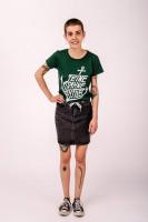 T-Shirt Anker Bottle Green Fitted
