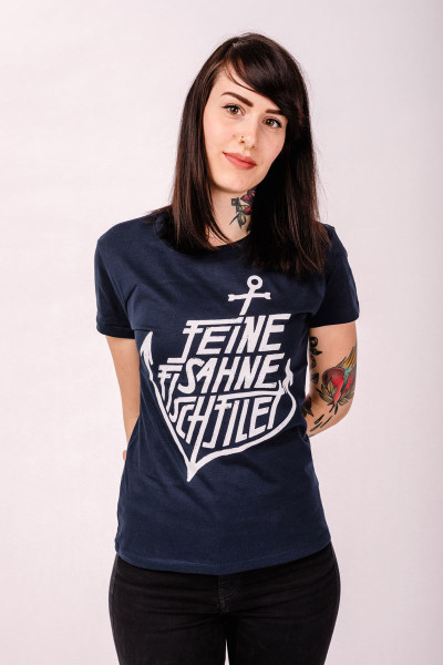 T-Shirt Anker French Navy Tailliert