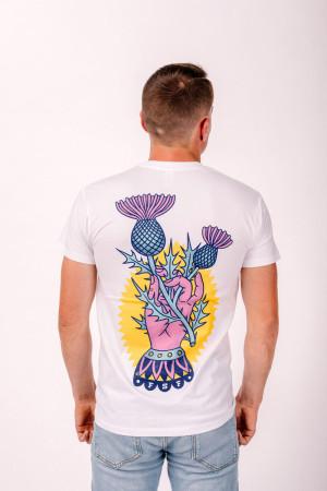 T-Shirt Distel im Beton White Unisex
