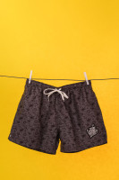 Swimshorts Allover Print Charcoal