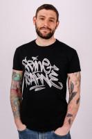 T-Shirt Graffiti Chrome Tag Schwarz Unisex