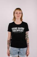 T-Shirt College Schwarz Tailliert